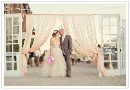 Diy Wedding Decor Using Fabric Amp Curtains