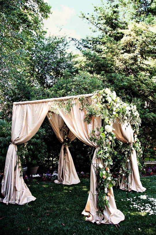 A ... & DIY Wedding Decor Using Fabric u0026 Curtains