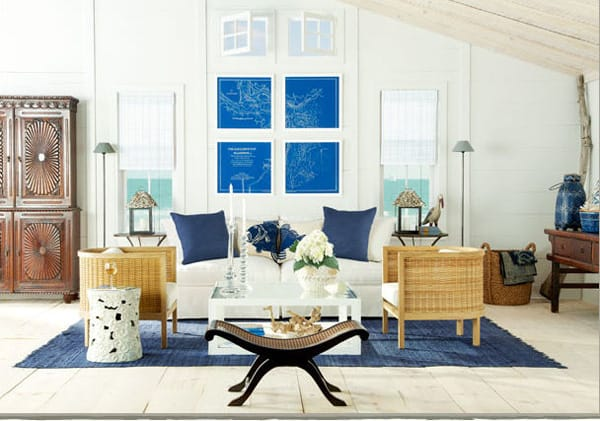 10 Inspiring Ideas for a Coastal Living Room | HomeandEventStyling.