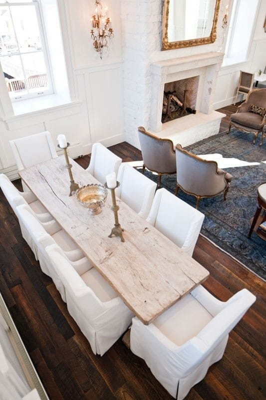 10 creative looks for dining room tables chairs megan for Dining room looks