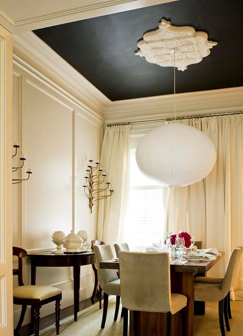 Decorating up 10 captivating ceiling design ideas megan for Dining room ceiling paint ideas