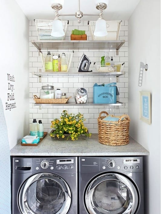 How to organize and beautify your laundry room megan morris - Laundry room organizing ideas ...