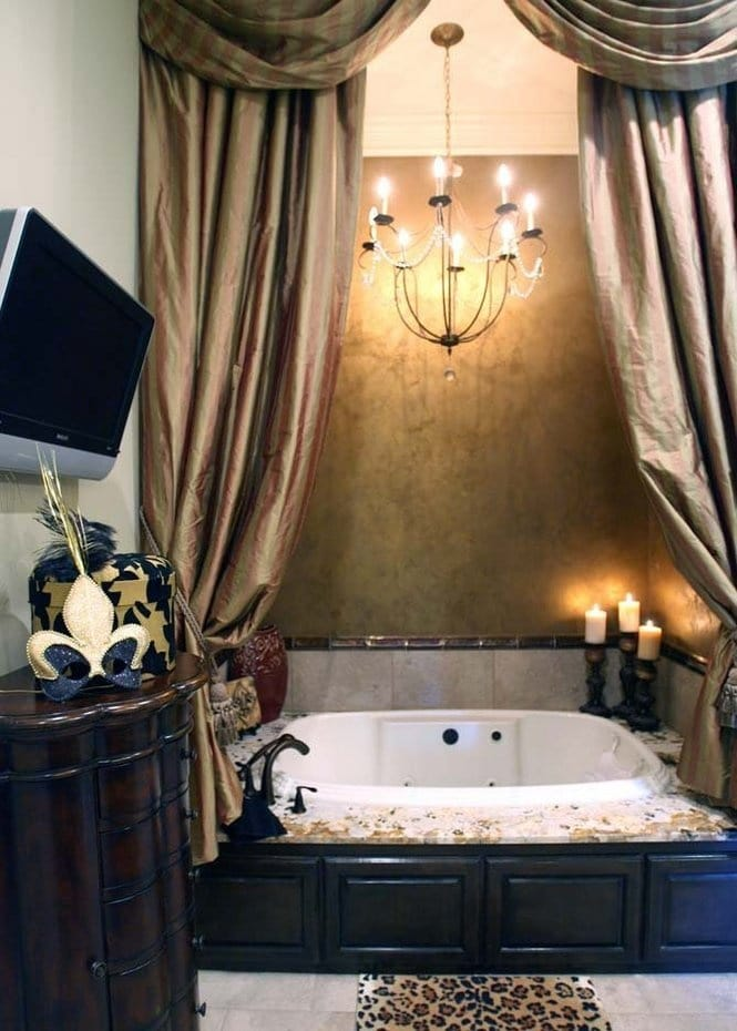 This Old World Bathroom Is All About Comfort And Luxury The Bathtub