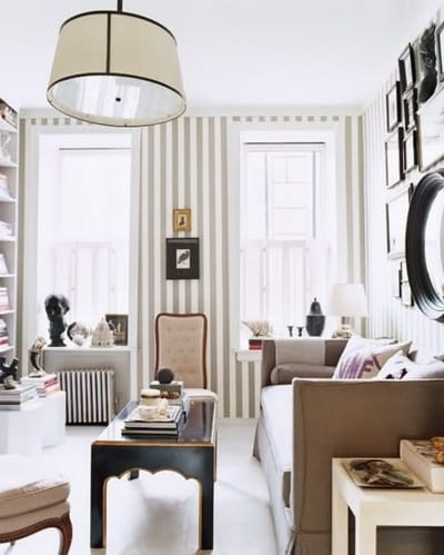 Striped Walls 10 Beautiful Rooms With Stripes Megan Morris