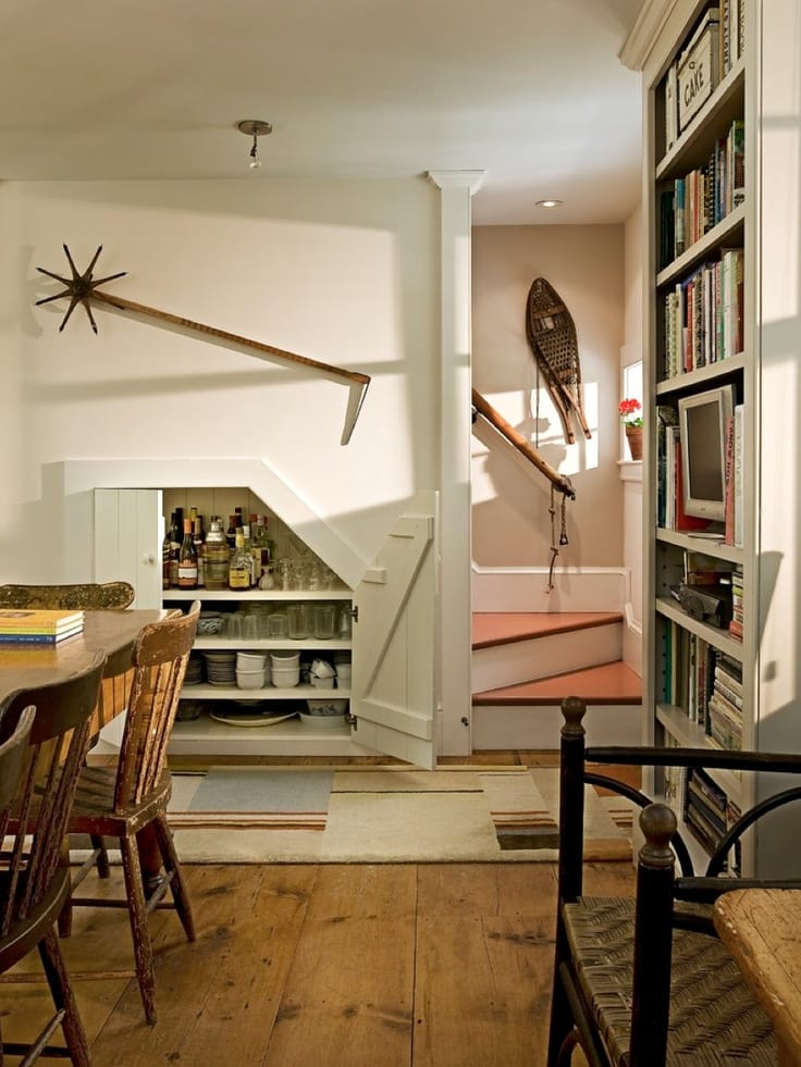 Creative uses for space under the stairs megan morris for Dining room under stairs