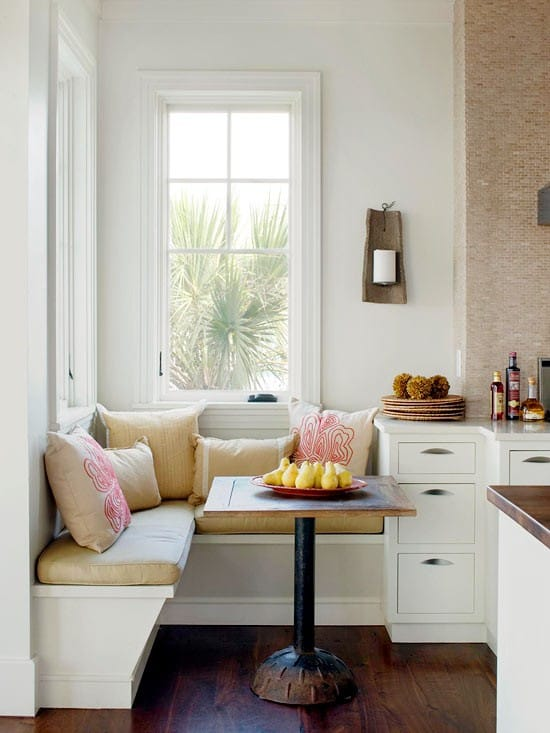 9 kitchen nooks with beautiful banquette seating. corner nook ...