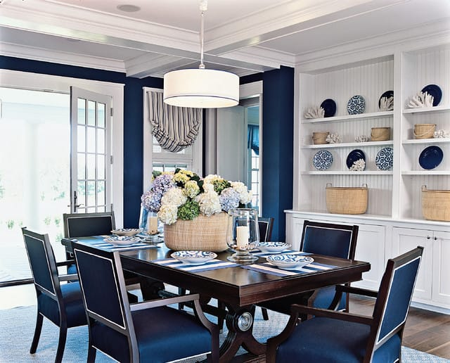 Blue Dining Room Ideas on beachy home decor