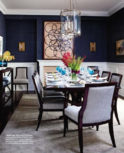 Blue dining room ideas megan morris for Dining room ideas in blue
