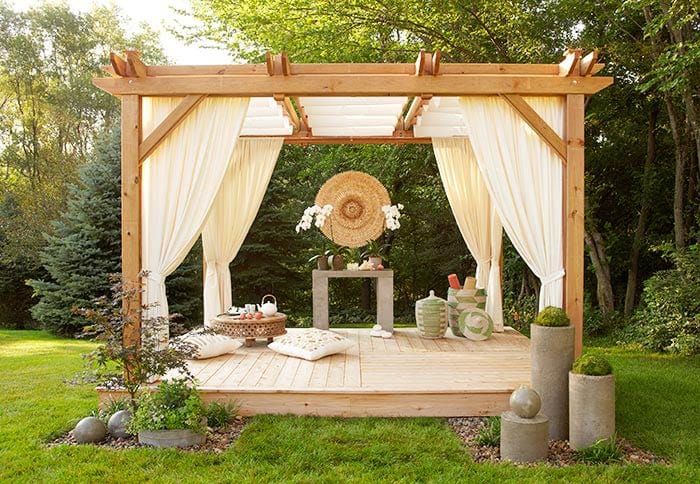 How to create shade stylishly in your backyard megan morris - Creating privacy in backyard ...