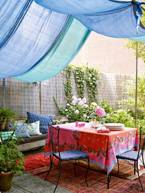 how to create shade stylishly in your backyard megan morris
