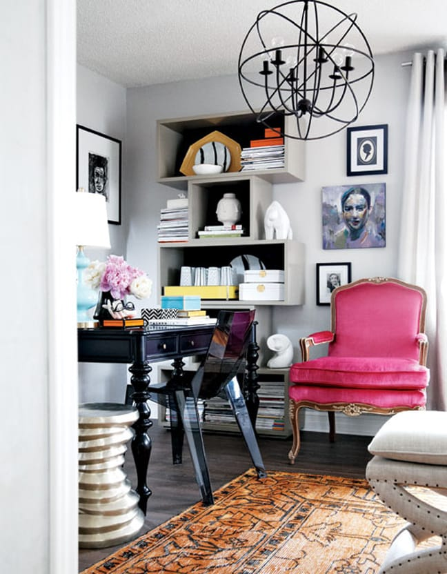 the chic home office decor