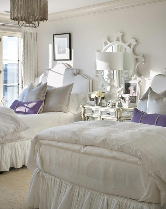 One room two beds ideas for guest rooms with double bed sets megan morris - How to decorate a single room ...