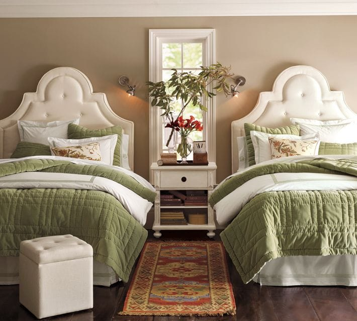 one room two beds ideas for guest rooms with double bed