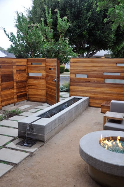 this could be perfect for you, including a water feature and fire pit