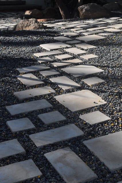 Backyard art modern landscape architecture megan morris - Stepping stones and pebbles ...