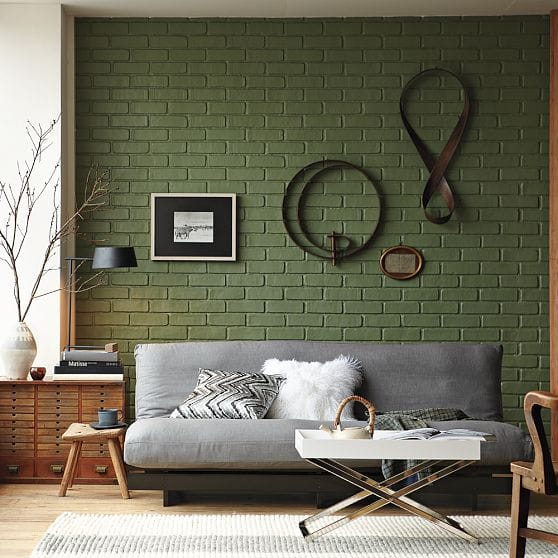 brick can be painted any color you d like no color is boring on brick. Black Bedroom Furniture Sets. Home Design Ideas