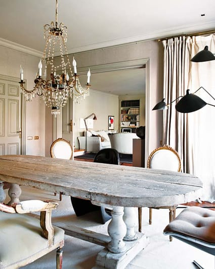 Earthy chic rustic dining room tables megan morris for Rustic dining room designs