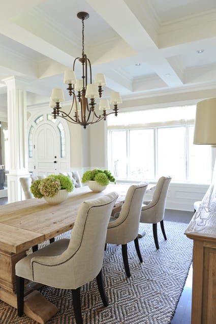 Rustic Chic Dining Chairs earthy chic: rustic dining room tables - megan morris