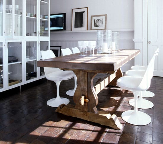 Earthy Chic Rustic Dining Room Tables Megan Morris : farmtable7 from meganmorrisblog.com size 550 x 485 jpeg 60kB