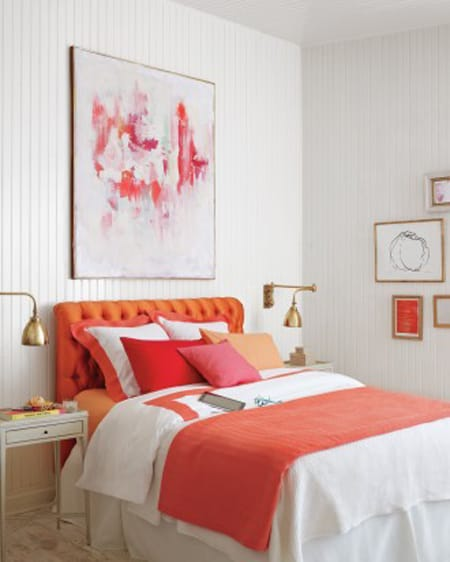 White Bedroom With Pop Of Color ask a decorator: how to add color to a white room - megan morris