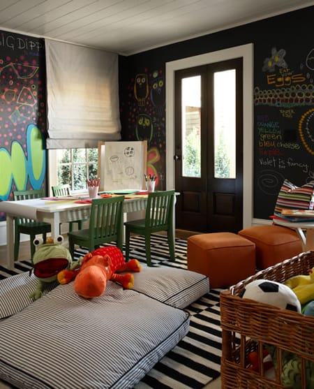 kids will go crazy over chalkboard paint on the walls finally they