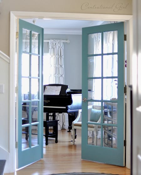 Ask a decorator home office french doors megan morris for Rolling french doors