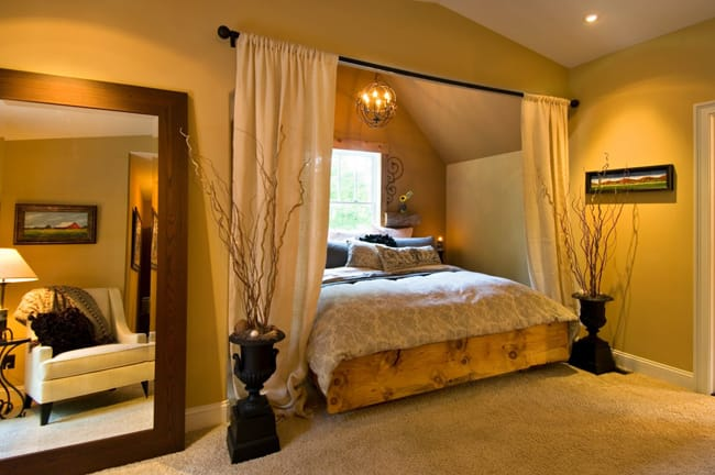 Master Bedroom Alcove Was Taken Advantage Of To Create A Private Cozy