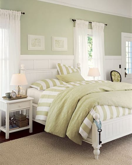of pigment a soft green is close to being a neutral this bedroom