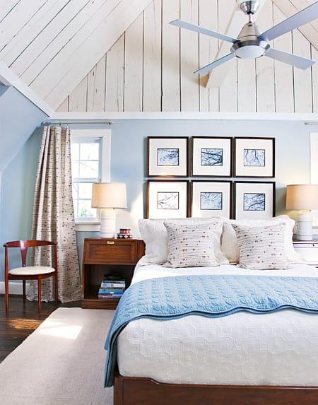 10 ideas for coastal bedrooms megan morris for Coastal cottage bedroom ideas