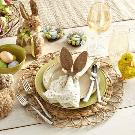 Festive Ideas For Easter Table Settings | HomeandEventStyling.com