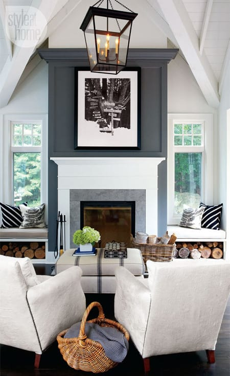 Point by painting the fireplace in a different color than the walls