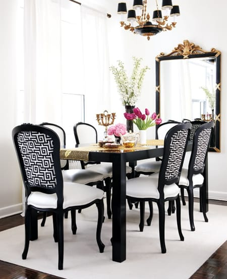 Black and White Dining Rooms | HomeandEventStyling.com