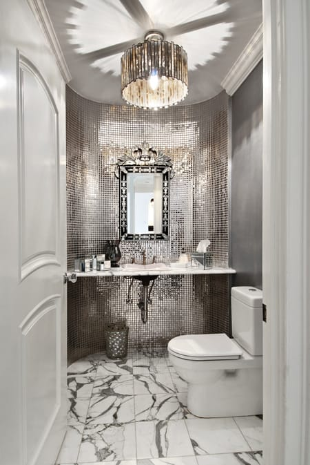 powder bathroom decorating ideas - megan morris