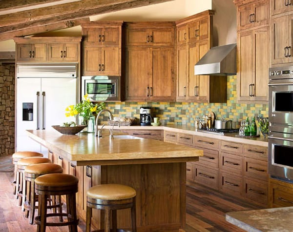 Wood Kitchen Cabinets raw wood kitchen cabinets : Raw Character: Kitchens with Natural Wood Cabinets