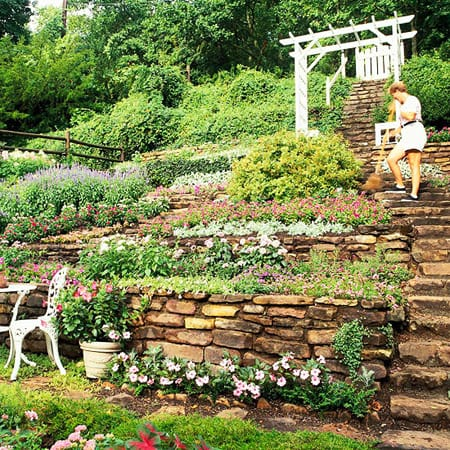 Hillside landscape design ideas joy studio design - Gardening on slopes pictures ...