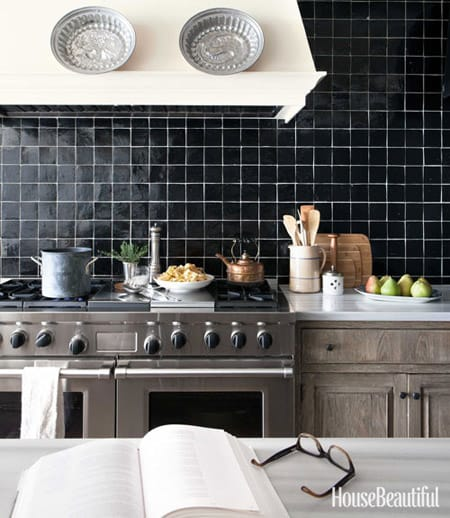 kitchens with a black and white backsplash megan morris