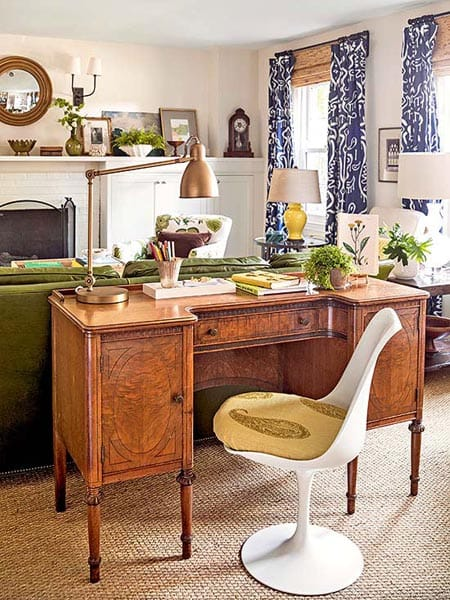 How To Arrange A Desk In The Living Room | HomeandEventStyling.com