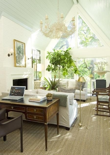 Superbe How To Arrange A Desk In The Living Room | HomeandEventStyling.com