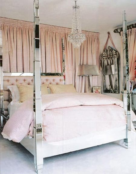 Chic Bedroom Style: Curtains Behind the Bed | HomeandEventStyling.com