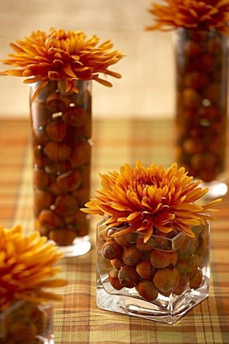 10 easy fall decorating ideas megan morris for Autumn flower decoration