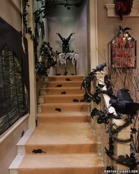 10 Halloween Staircase Decorating Ideas | HomeandEventStyling.com
