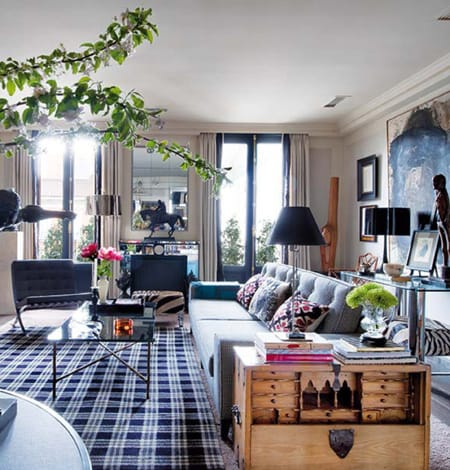 10 Fresh Takes On Decorating With Plaid | HomeandEventStyling.com A Plaid  Area Rug ...