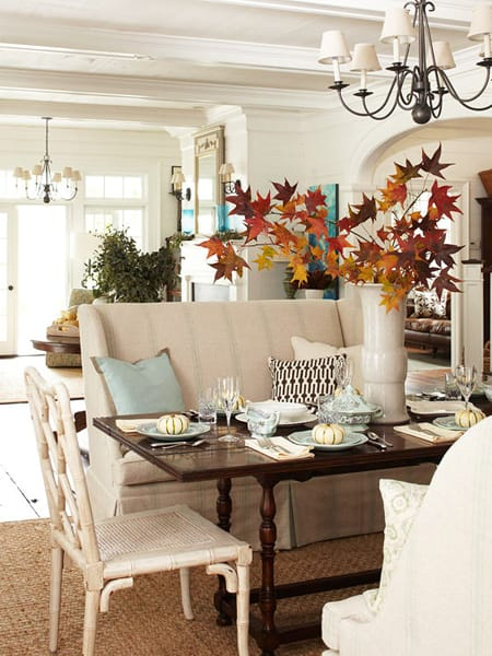 The Stylish Look Of A Dining Room Settee Megan Morris