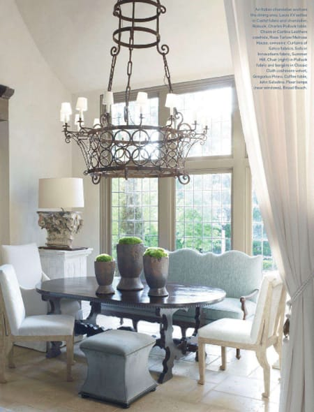 the stylish look of a dining room settee