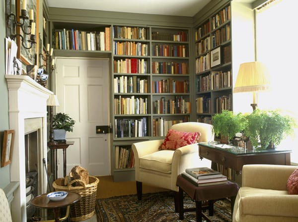 10 ideas for a stylish functional home library