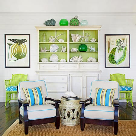 Decorating with lime green accents megan morris for Lime green home decorations