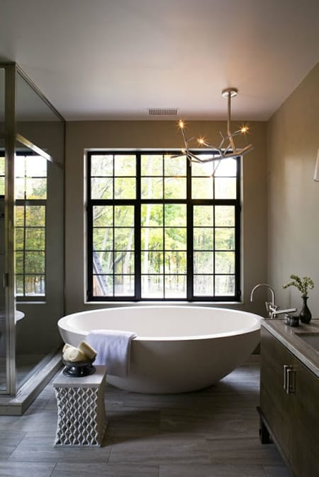 10 Bathrooms Where a Freestanding Tub is the Star | HomeandEventStyling.com