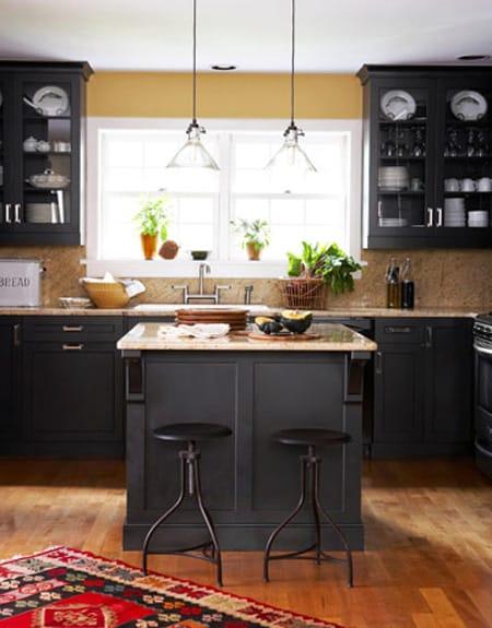 Dramatic and Bold Black Kitchen Cabinets - Megan Morris