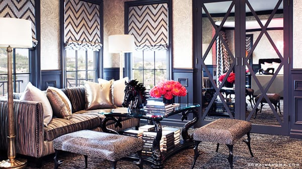 Home Tour: Kourtney Kardashian's Dramatic Calabasas House | HomeandEventStyling.com