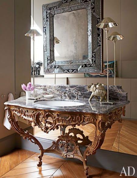 Modern day baroque decor megan morris for Baroque style bathroom